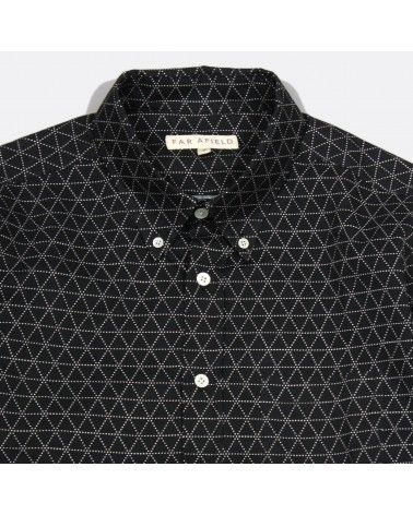 Far Afield - Chemise Mod Button Down - Noir imprimé géométrique Far Afield - 3