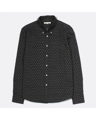 Far Afield - Chemise Mod Button Down - Noir imprimé géométrique Far Afield - 1