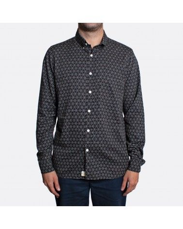 Far Afield - Chemise Mod Button Down - Noir imprimé géométrique Far Afield - 2