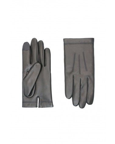 Agnelle - Gants en Cuir - Xavier Noir - Index Digital Sensible Agnelle - 1