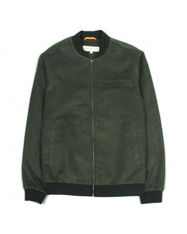 Far Afield - Veste Chet Bombers - Velours Côtelé Vert Far Afield - 1