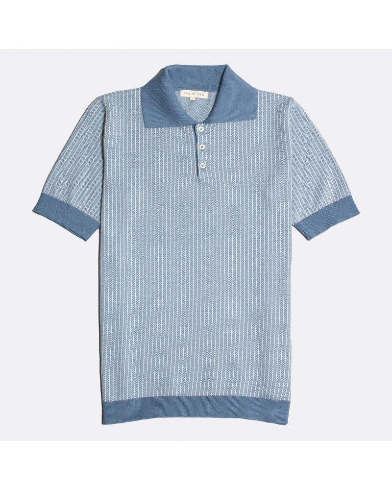 Far Afield - Polo Blakey Manches Courtes - Bleu Délavé Far Afield - 1