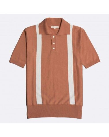 Far Afield - Polo Cole Duo Manches Courtes - Orange Far Afield - 1