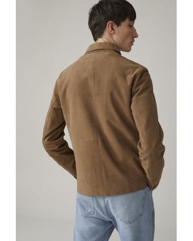 Closed - Veste en cuir d'agneau Daim - Marron clair Closed - 7