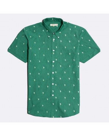Far Afield - Chemise Manches Mod Button Down - Cactus Far Afield - 1
