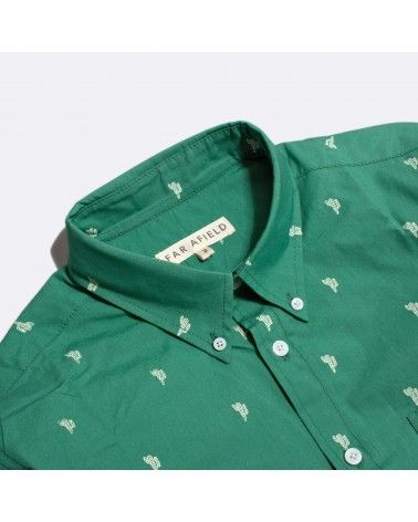 Far Afield - Chemise Manches Mod Button Down - Cactus Far Afield - 2