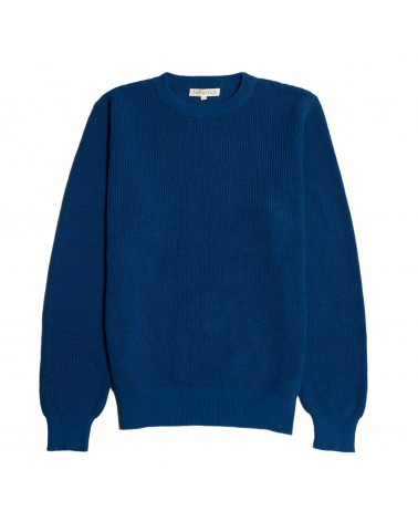 Far Afield - Pull Coton Organique Zaca Crew - Bleu Monaco Far Afield - 1