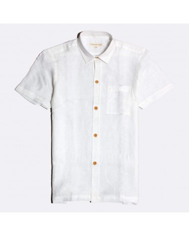 Far Afield - Chemise Manches Courtes Costa - Lin - Blanche Far Afield - 1