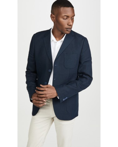 Far Afield - Veste Blazer Carter en Lin - Gris Anthracite Far Afield - 2
