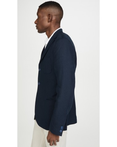 Far Afield - Veste Blazer Carter en Lin - Gris Anthracite Far Afield - 6