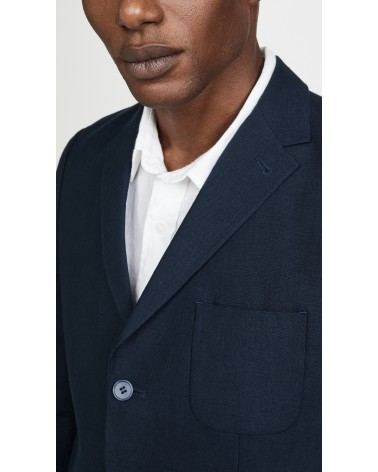 Far Afield - Veste Blazer Carter en Lin - Gris Anthracite Far Afield - 5
