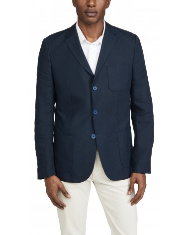 Far Afield - Veste Blazer Carter en Lin - Gris Anthracite Far Afield - 4