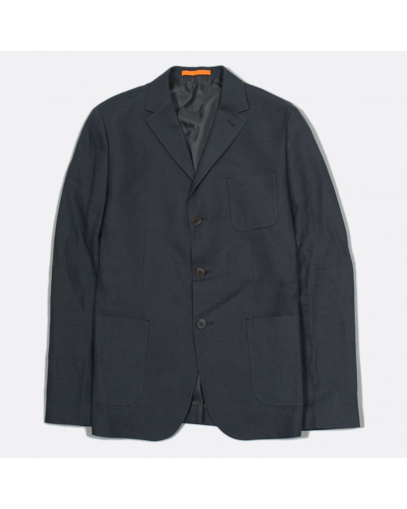 Far Afield - Veste Blazer Carter en Lin - Gris Anthracite Far Afield - 1