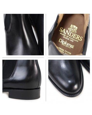 Sanders - Bottines Chelsea Bucarest Noires en cuir de veau Sanders - 8