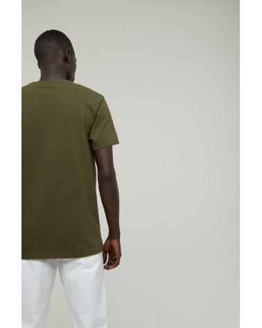 Closed - T-shirt Brodé - Vert Chard Green Closed - 7